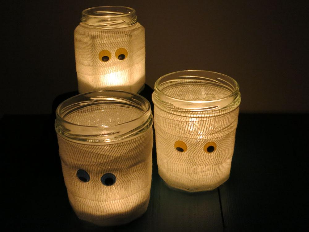 Halloween Geisterlicht DIY Idee