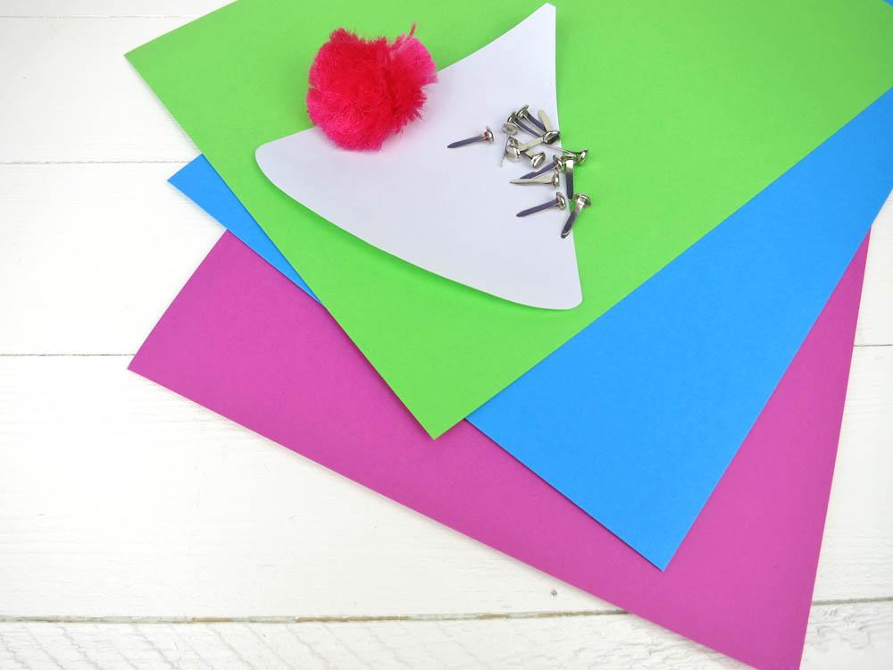 Material für deine Partyhut Einladungen