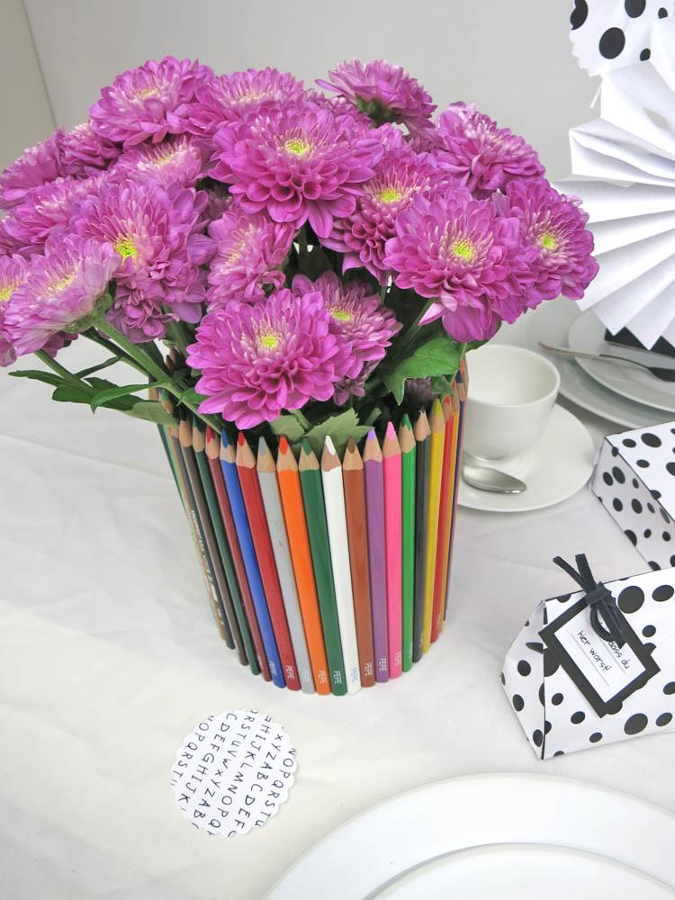 Eischulung Tischdeko Vase 1