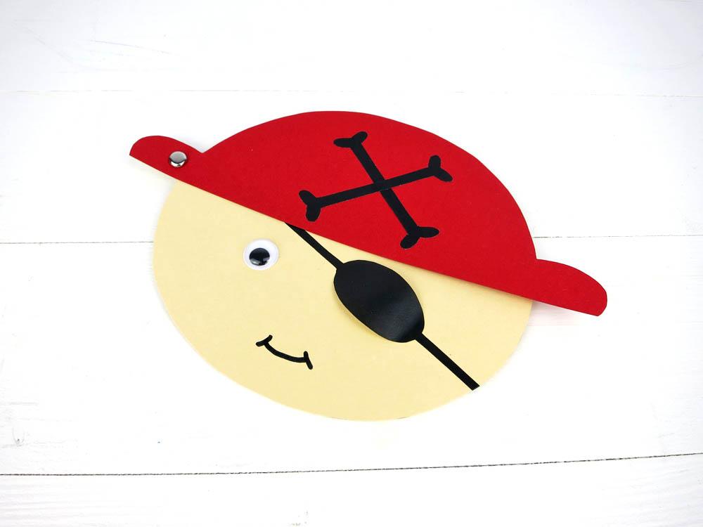 Piraten Einladungskarten selber basteln