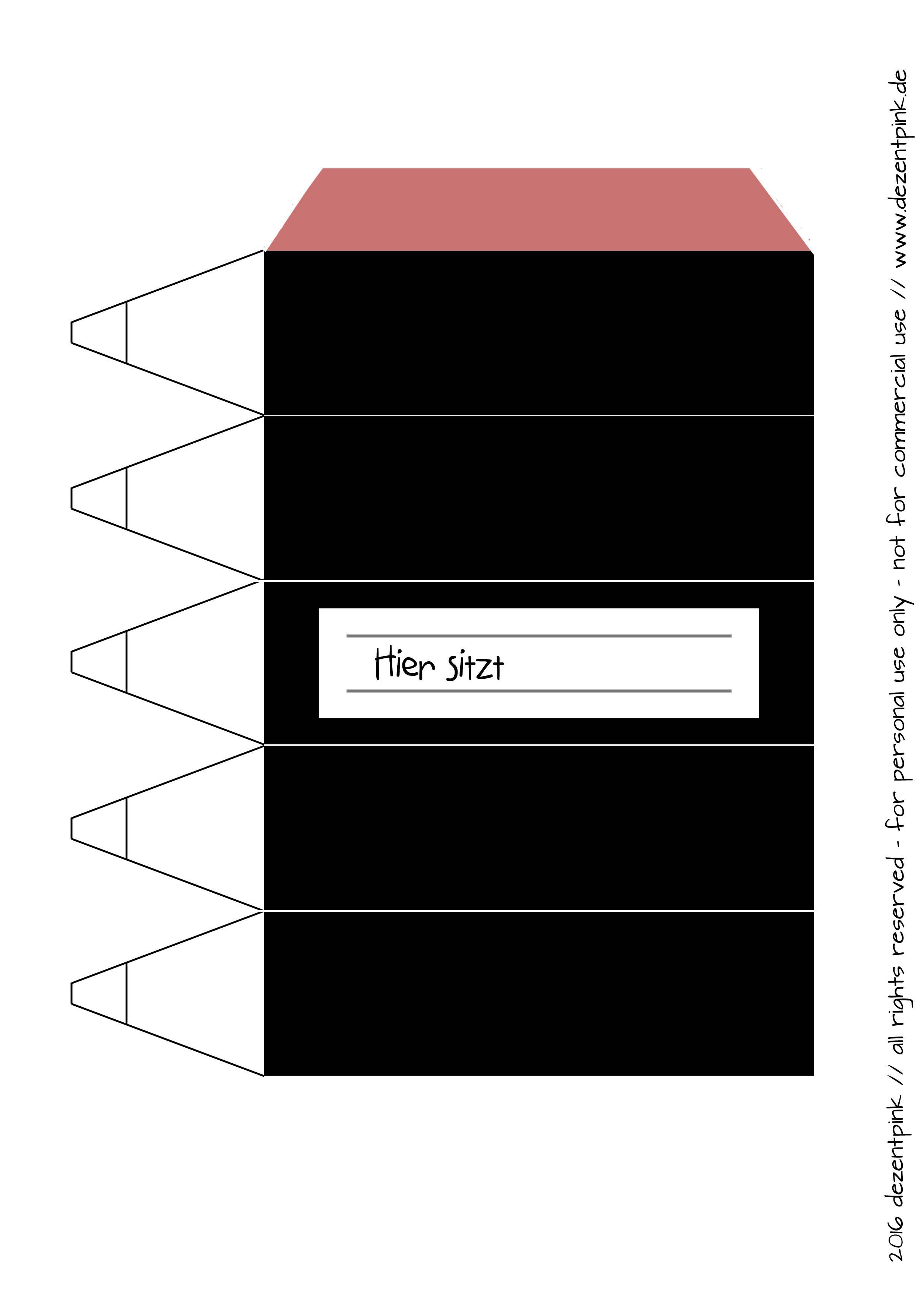 Sitzplatzkarte Bleistift