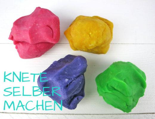 Knete selber machen mit Kindern