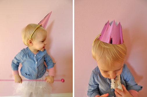 Einhorn Kopfbedeckung für Kinder selbstgemacht