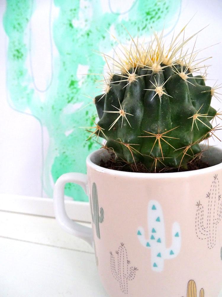 Kaktus DIY malen mit Kindern selbstgemacht