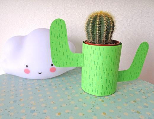 Kaktus selberbasteln DIY mit Kindern