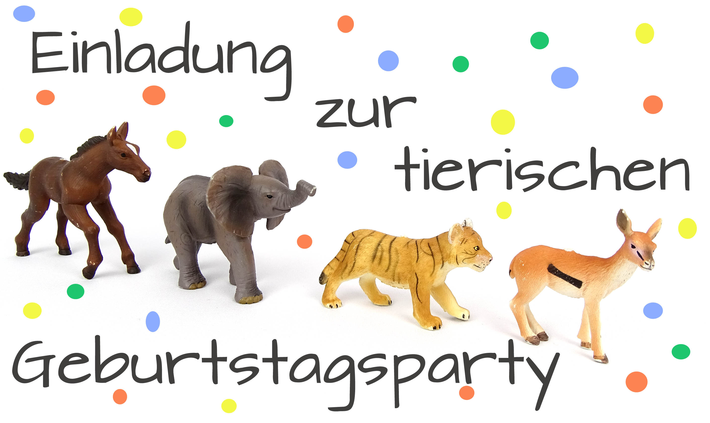 Einladung Kindergeburtstag Tierparty