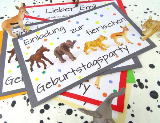 Einladung tierische Geburtstagsparty Tierparty Kindergeburtstag