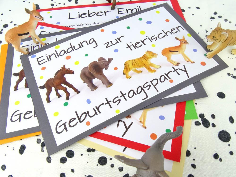 Schön Einladung Tierische Geburtstagsparty Tierparty Kindergeburtstag