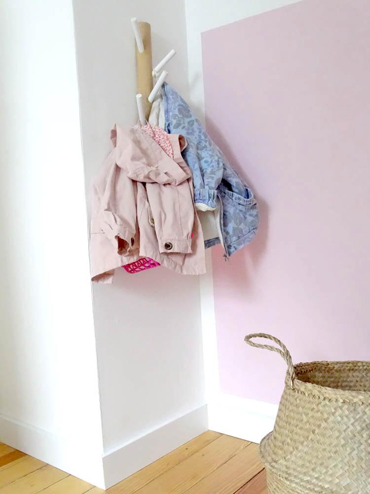 Kinderzimmer Garderobe Holz Kleiderhaken
