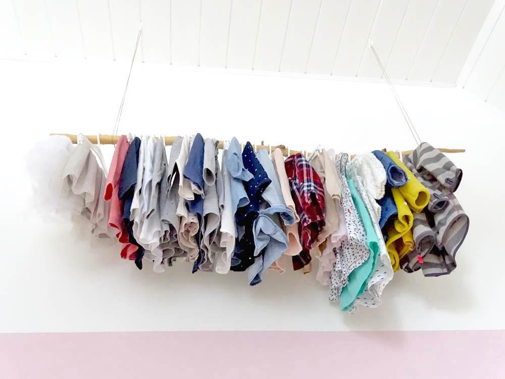 Kinderzimmer Kleiderstange selber bauen Kinderzimmer Makeover DIY