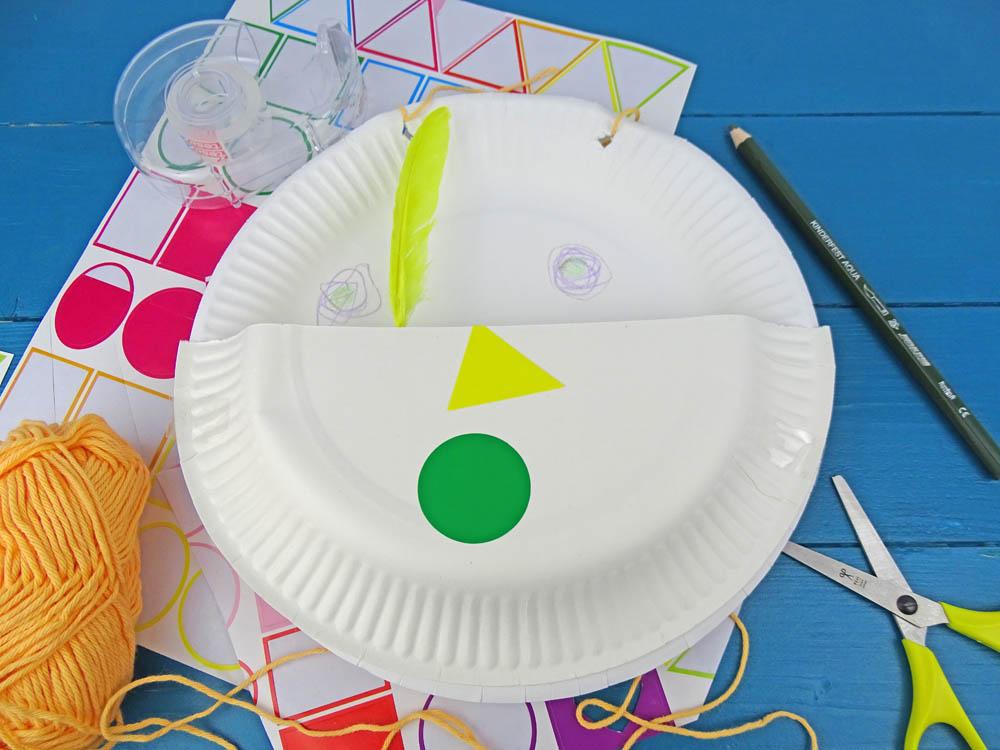 Pappteller Utensilo Basteln mit Kindern kidscraft