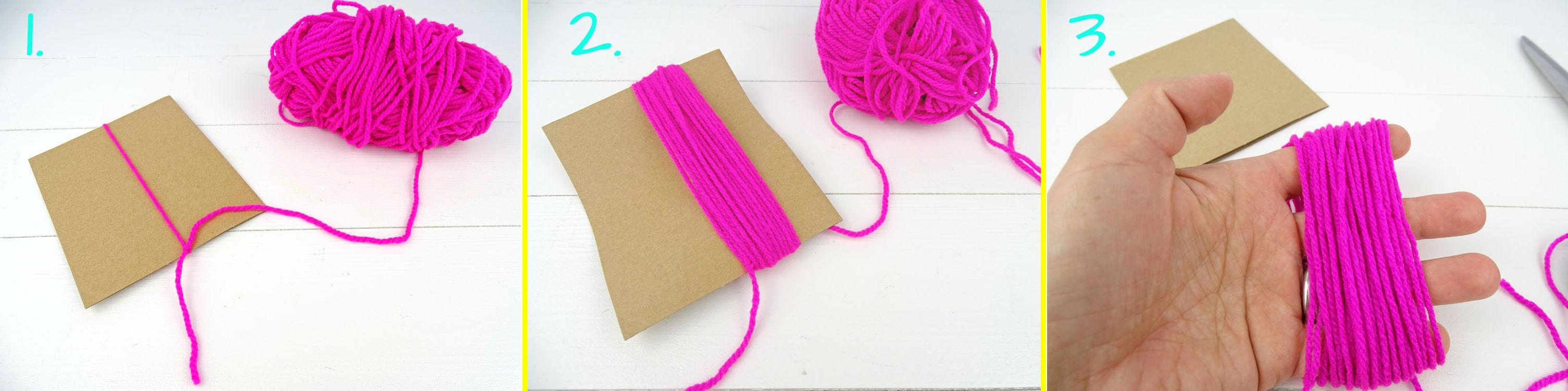 Anleitung 1-3 Tassel Girlande selbermachen DIY