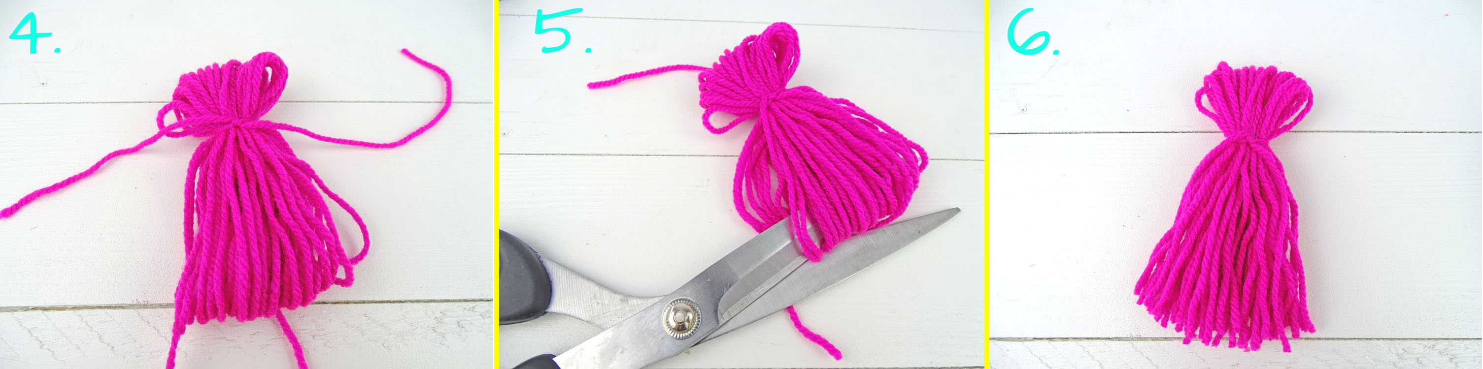 Anleitung 4-6 Tassel Girlande selbermachen DIY