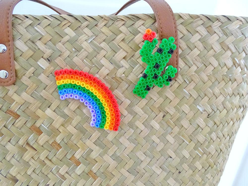 Ansteckbroschen aus Bügelperlen ganz einfach selber machen DIY