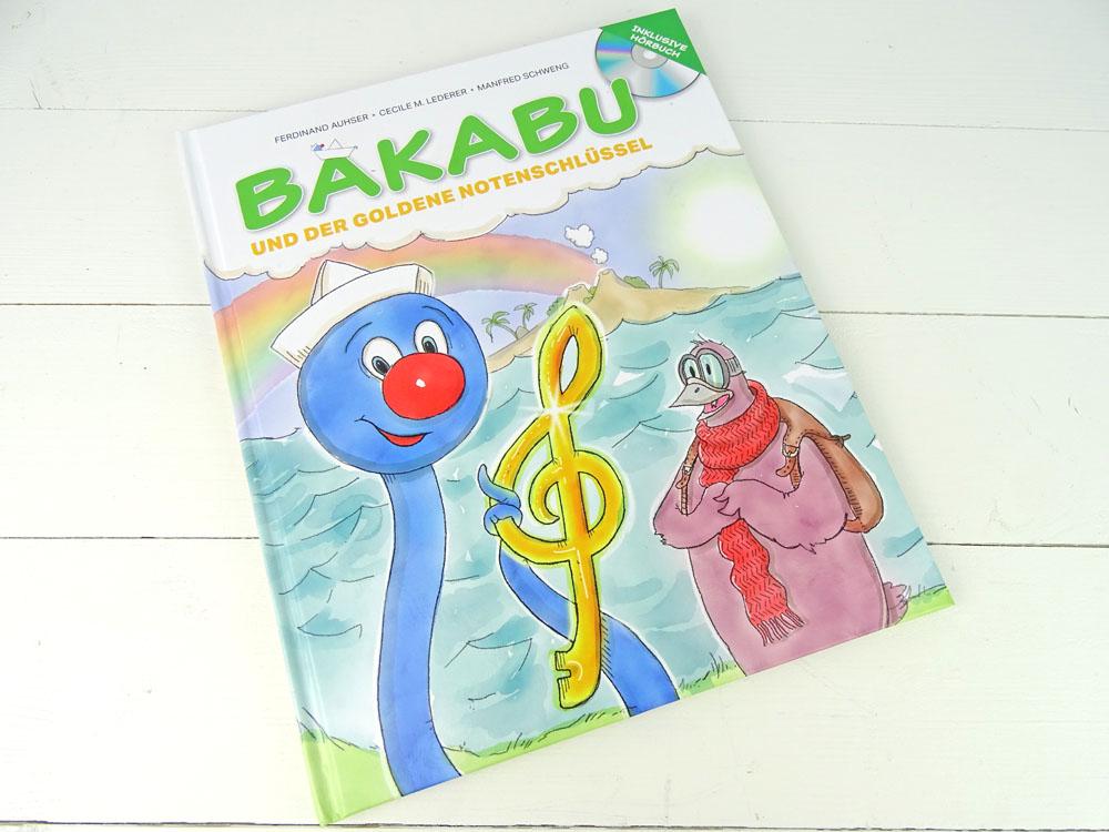 Bakabu und der Goldene Notenschlüssel mit Lesezeichen DIY