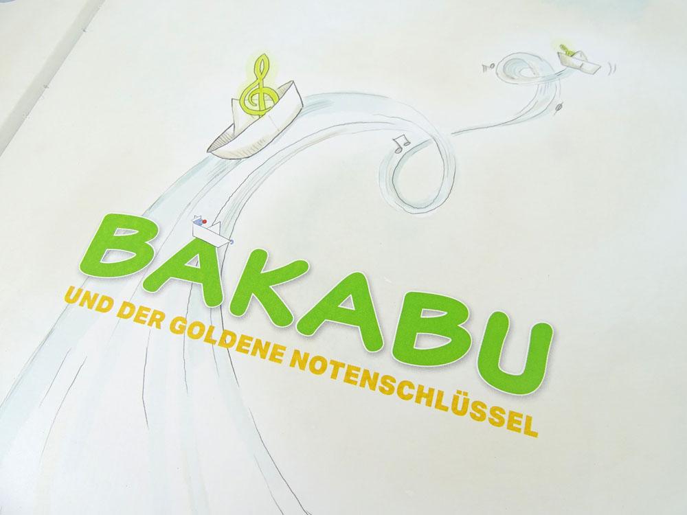 Bakabu und der goldene Notenschlüssel mit DIY Lesezeichen Bastelanleitung