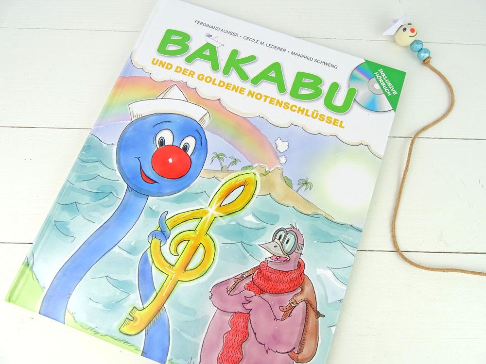 Bakabu und der goldene Notenschlüssel mit Lesezeichen DIY zum selber machen