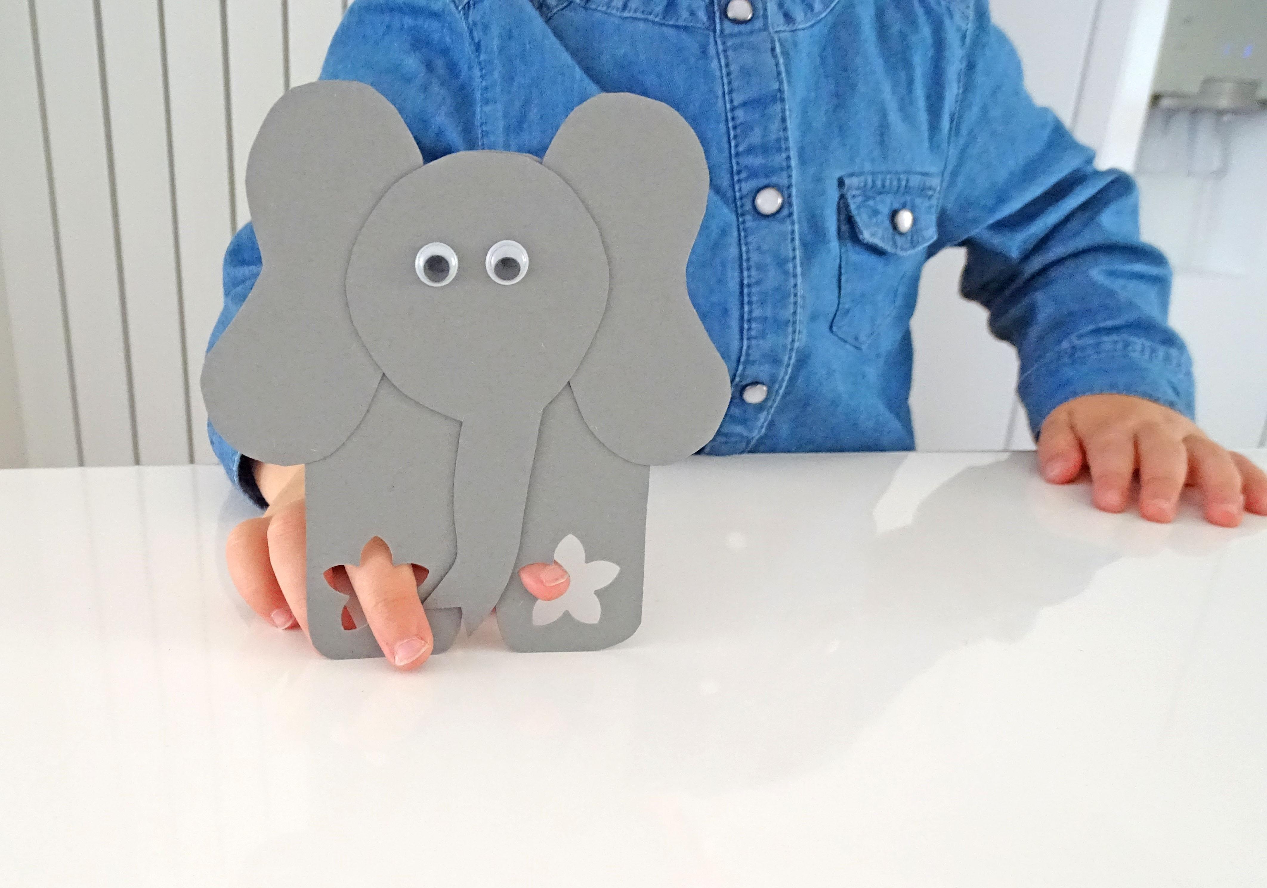 Fingertiere ganz einfach basteln DIY Elefant