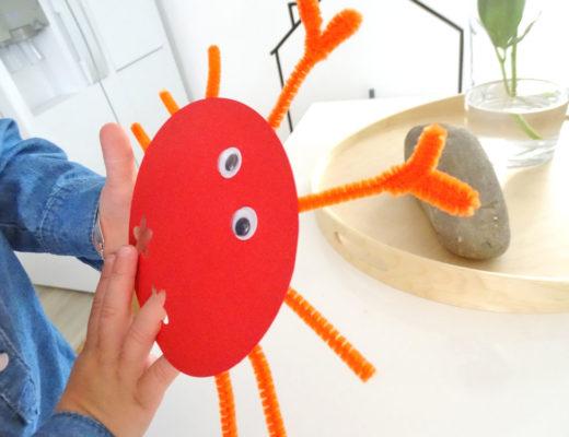 Fingertiere selberbasteln Krebs