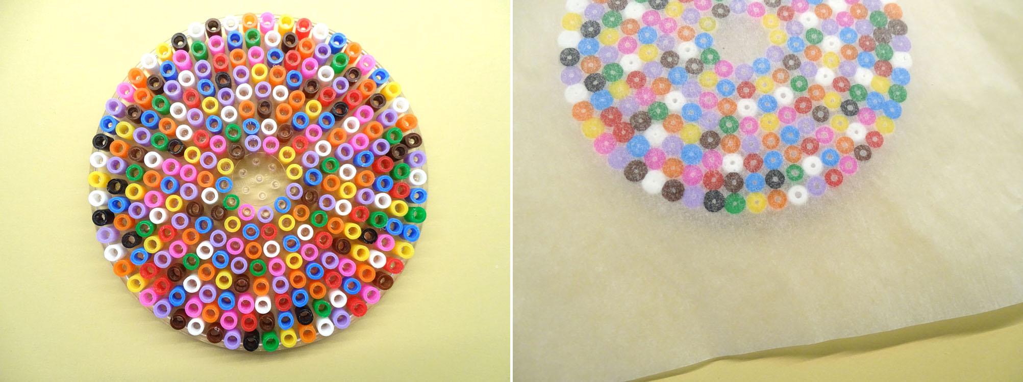 Glasabdeckung aus Bügelperlen Anleitung für Kinder DIY