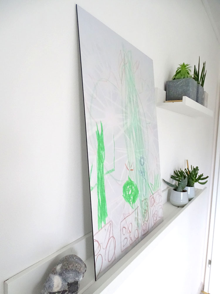 Wandbild DIY Kinderkunst