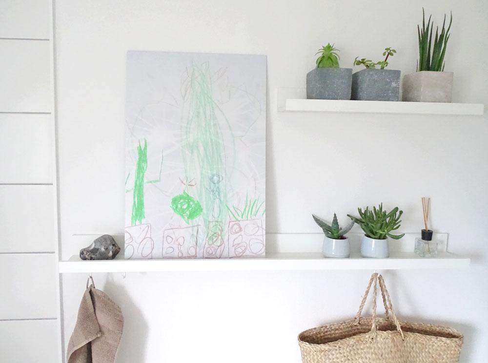 Wandbild gestalten DIY Kinderkunst