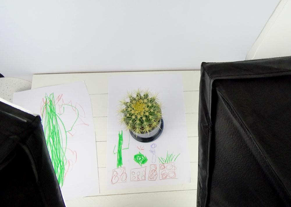 Wandbild aus Kinderzeichnung gestalten