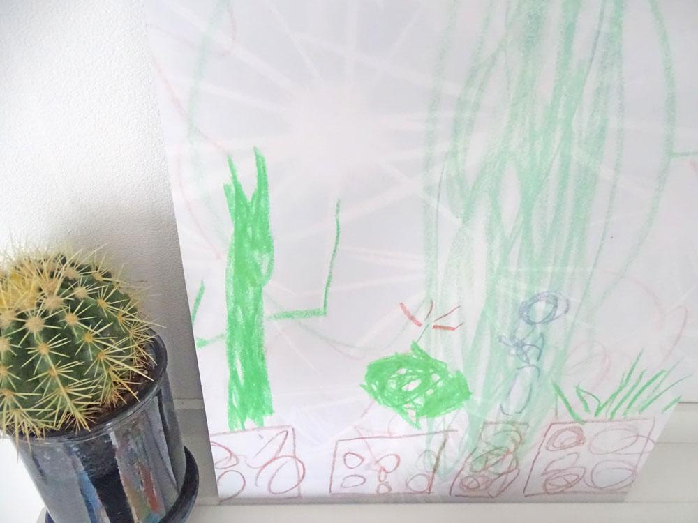 Wie Kinderzeichnungen zum modernen Wandbild werden. - DEZENTPINK ...