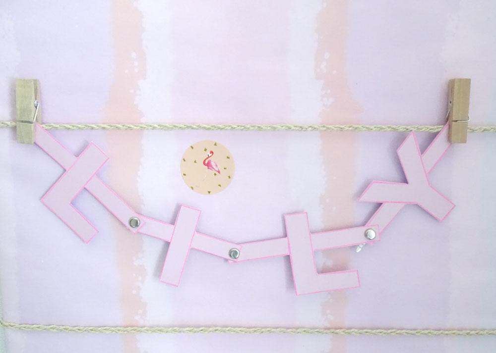 Letter Banner basteln