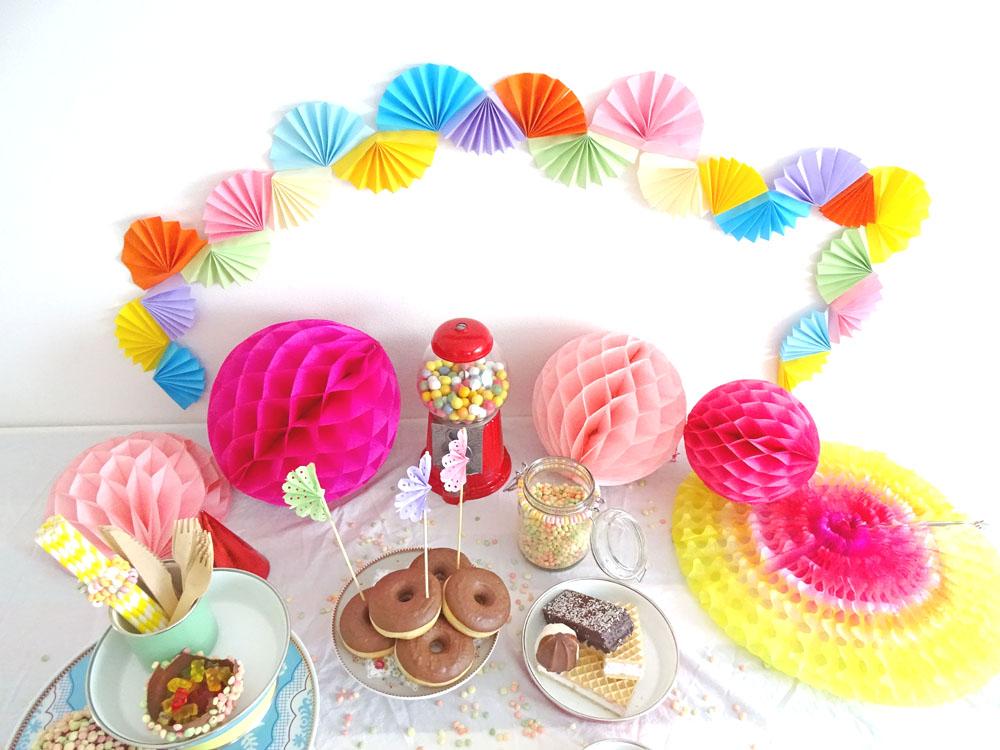 DIY Süßigkeiten Tisch Kindergeburtstag
