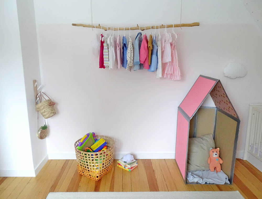 Papphaus im Kinderzimmer