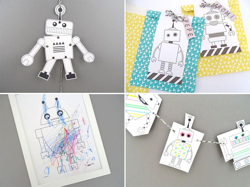 tolle roboter diy ideen zum nachbasteln dezentpink. Black Bedroom Furniture Sets. Home Design Ideas