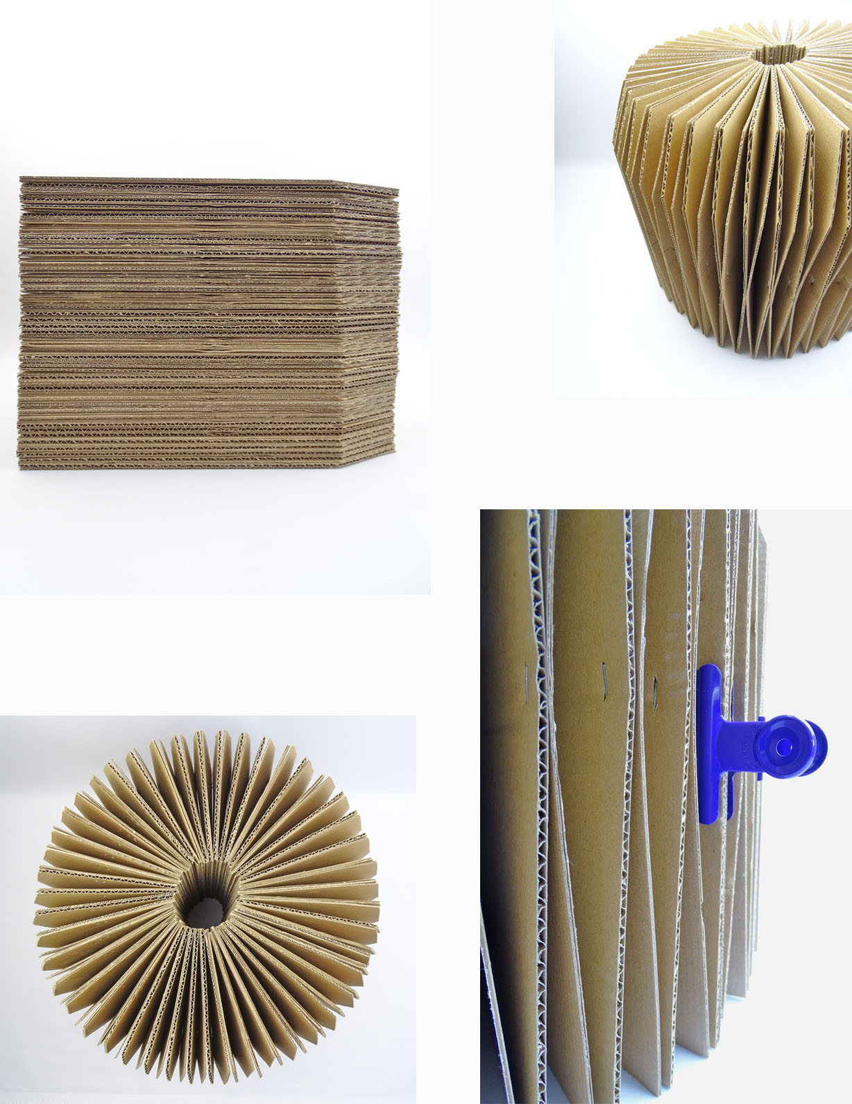 Ziehharmonika Hocker aus Pappe und Basteltisch selber basteln DIY