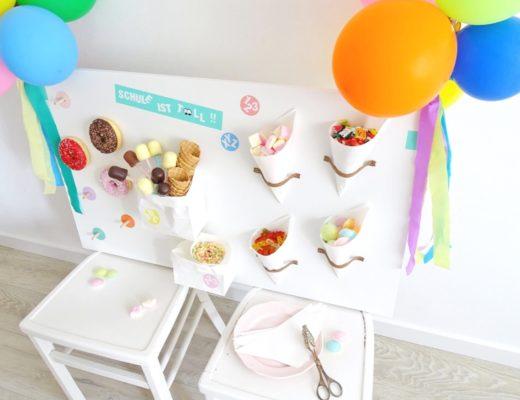 Super DIY zur Einschulungsparty: die Candy Wall.
