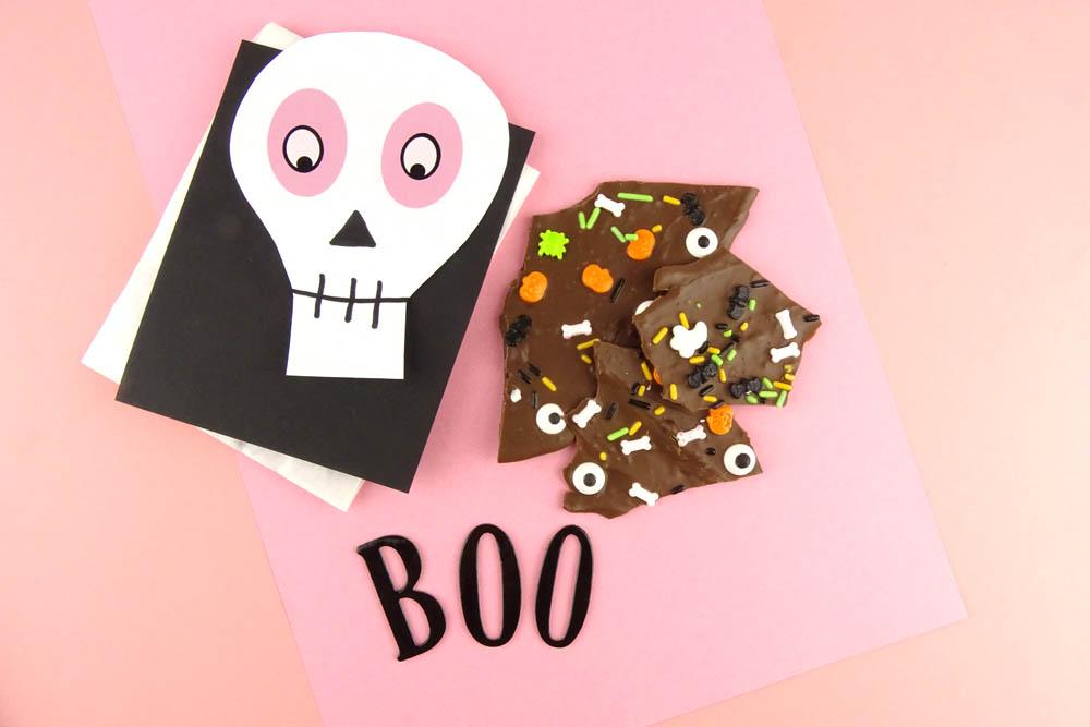 DIY Idee Halloween Bruchschokolade selbermachen