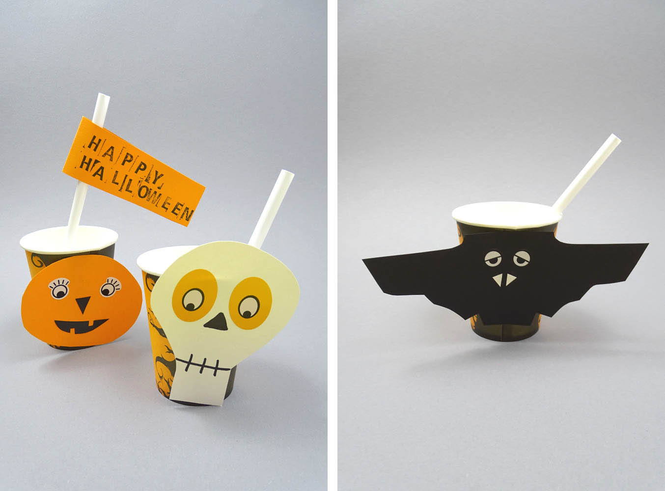 DIY Idee Halloween Trinkbecher