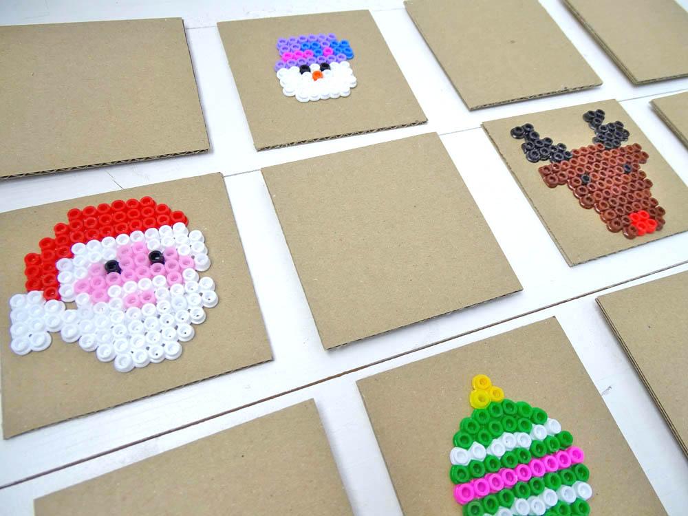 Bügelperlen Weihnachts-Memory basteln
