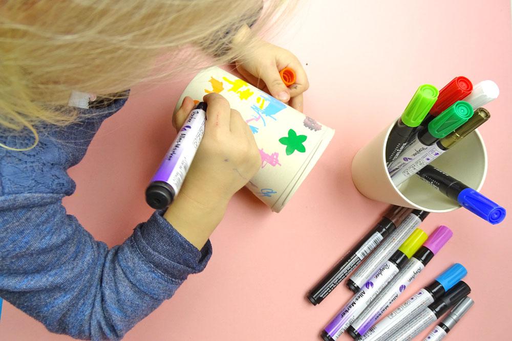 Kindergeburtstag DIY Idee mit Rayher Bambus Geschirr