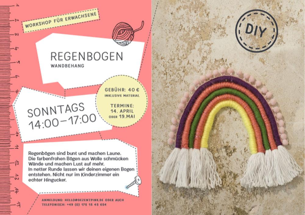 DIY Workshop Erwachsene Regenbogen Fibre Art