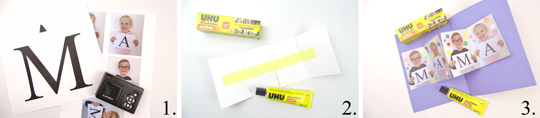Anleitung DIY Pop Up Karte mit Fotos