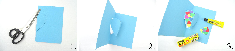 Anleitung DIY Pop Up Karte mit Herz