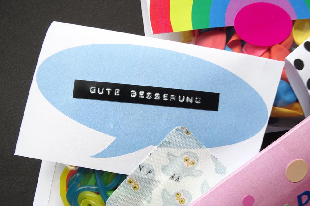 Sprechblase DIY Grußpäckchen