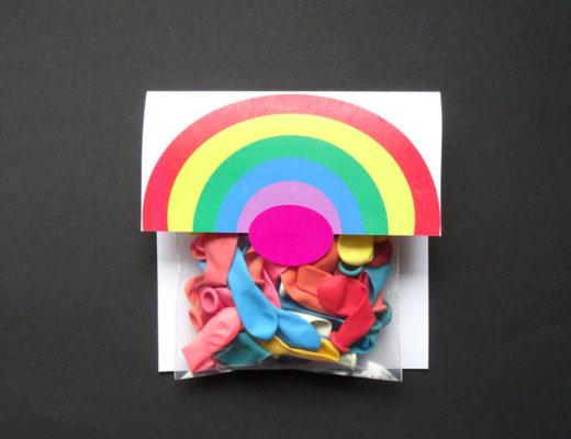 Regenbogen Grußpäckchen DIY