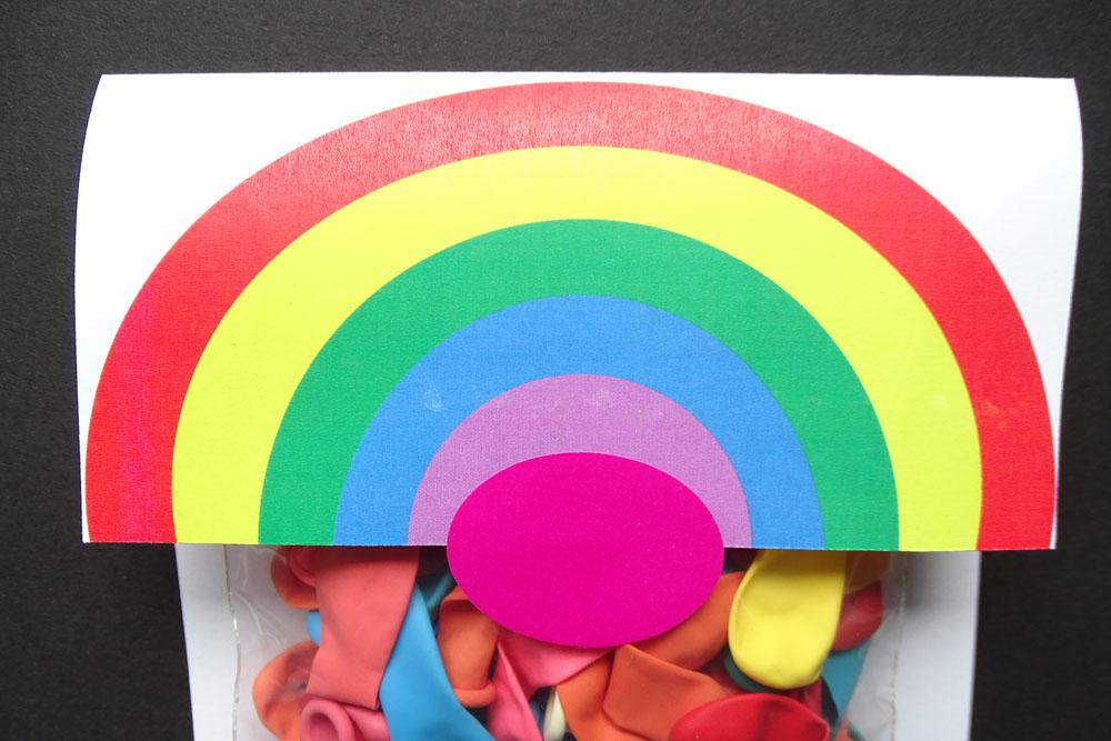 Regenbogen DIY Grußpäckchen