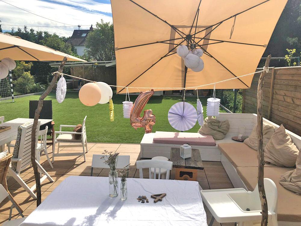 Sommerparty zum 4. Geburtstag DIY Lampions