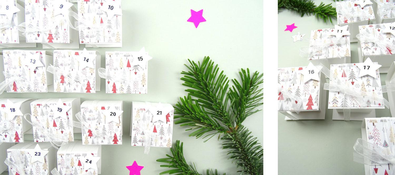 DIY Minischachteln Adventskalender efco Bastelmaterial