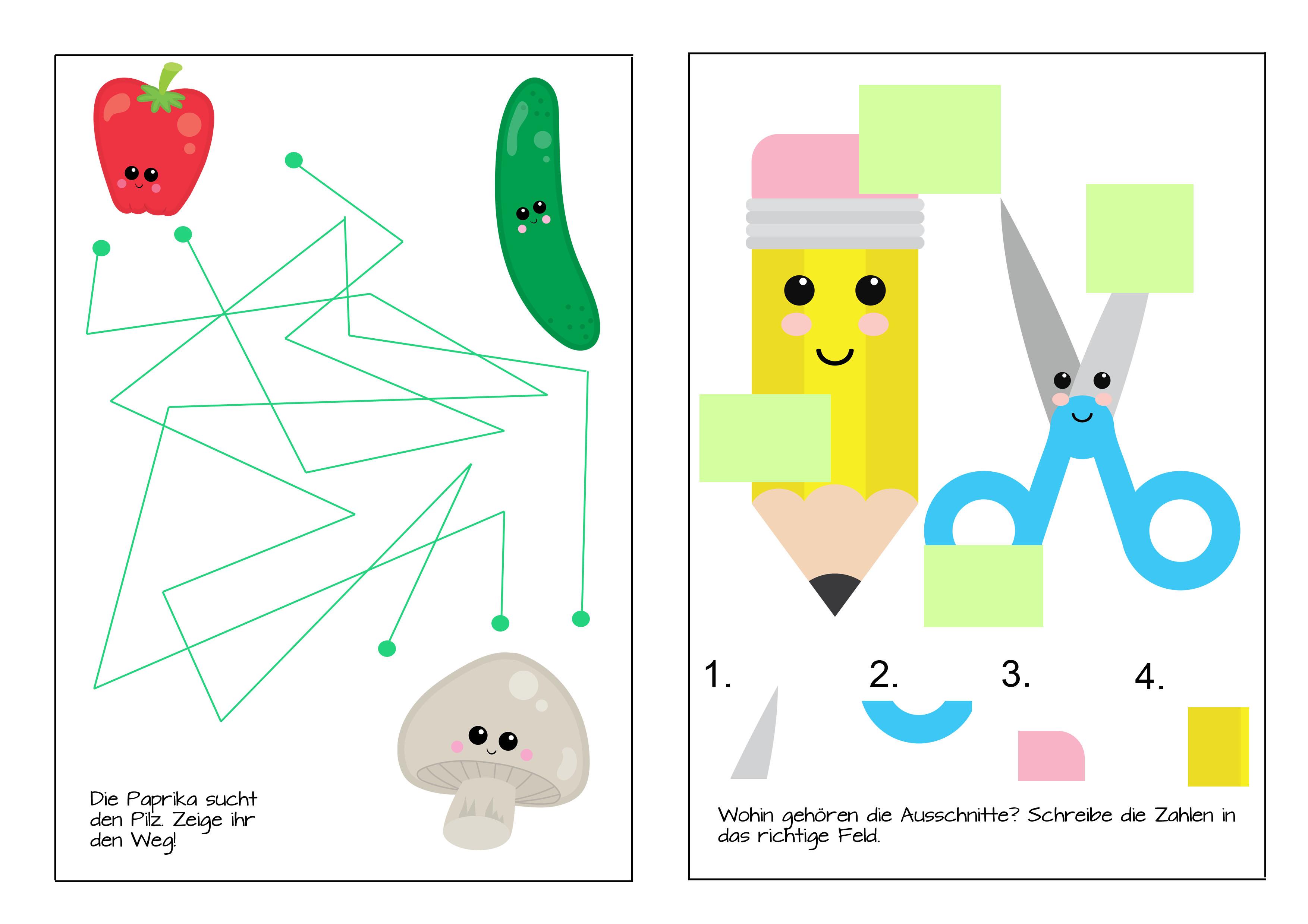 Rätselblatt zum ausdrucken DIY für Kinder