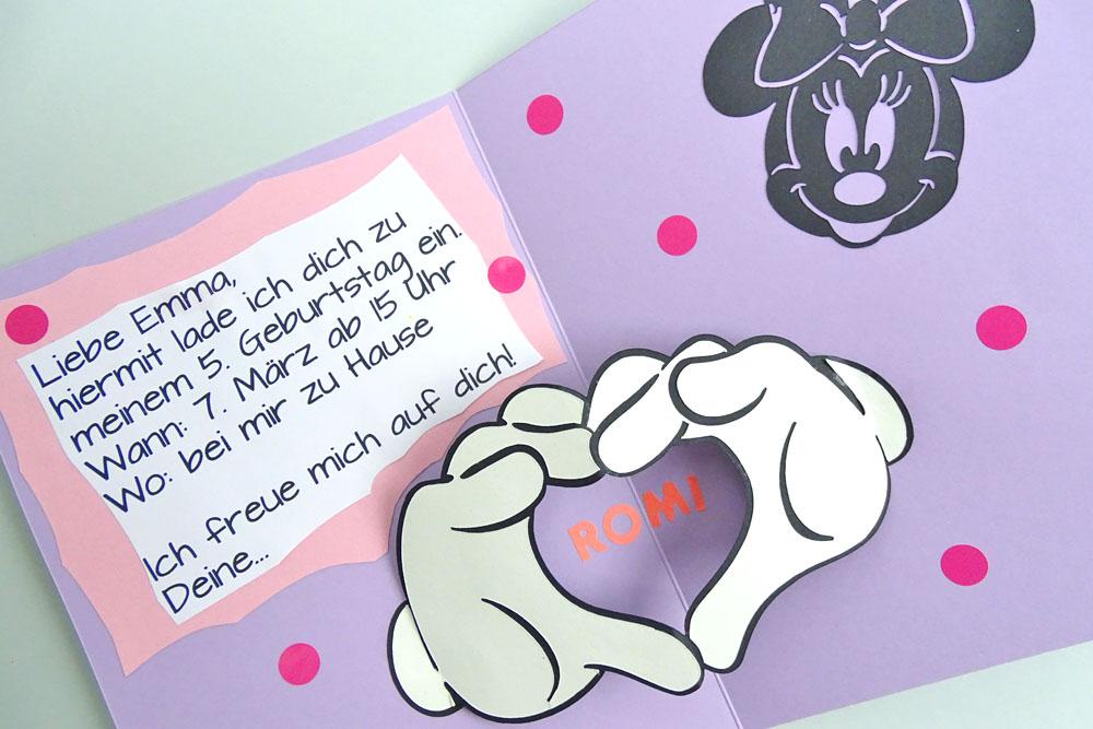Einladung zum Mickey Mouse Kindergeburtstag