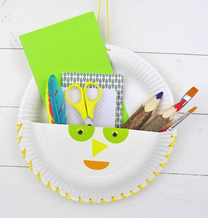 Pappteller Utensilo DIY BAsteln mit Kindern