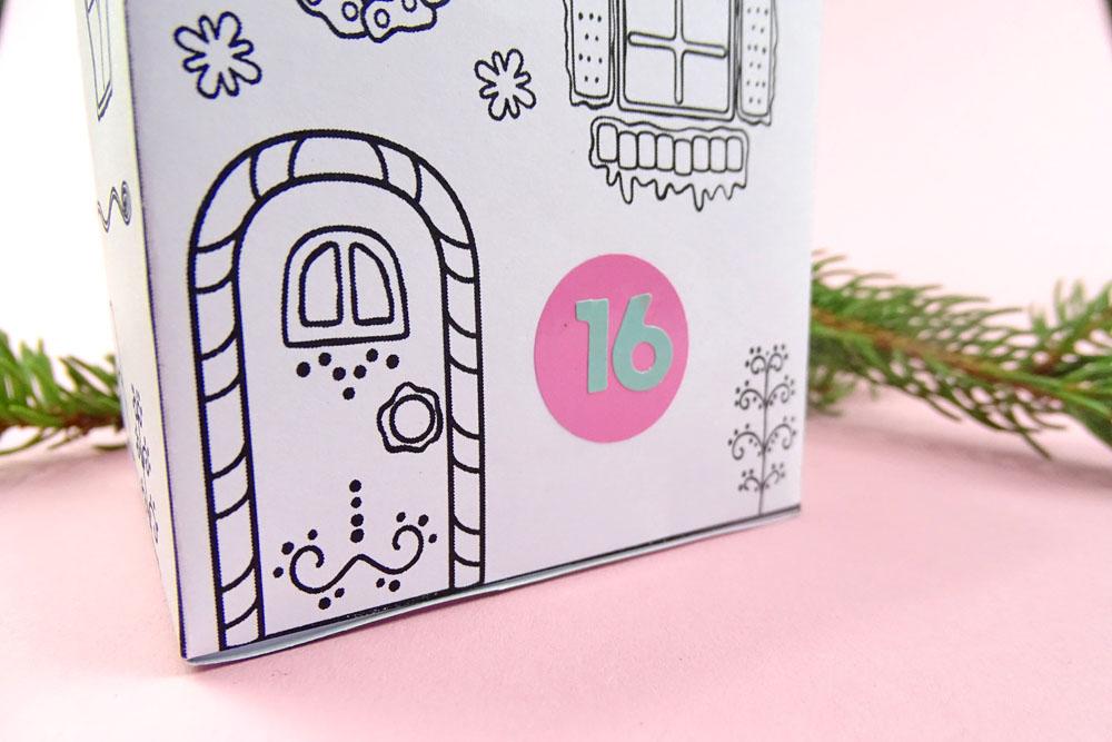 Adventskalender Haus DIY zum ausdrucken